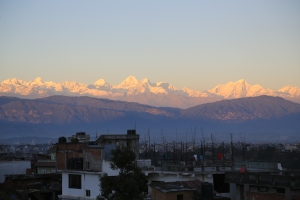 Looking North towards downtown Kathmandu and beyond