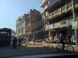 Webs of electrical wires on Kathmandu streets can be very dangerous during and after an earthquake