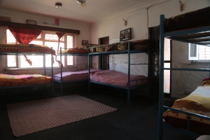 The dormitory rooms are immaculate and Spartan.