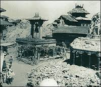 The 1934 Earthquake in Nepal destroyed 80,000 buildings in the capital Kathmandu