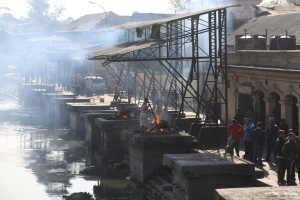 the cremation ghats