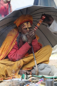 This Sadhu greatly enjoyed his ganja. © Donatella Lorch