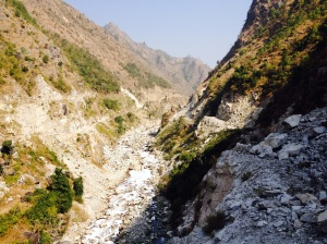 The shortest route from Kathmandu to India where even the tracks are impassable due to landslides. Copyright Donatella Lorch