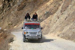 A Sumo on a wide Nepali road. Copyright Donatella Lorch