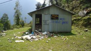 Waste management in Chhomrung in the Annapurna Sanctuary where the local lodges want to ban plastic bags. Courtesy Jerome Edou