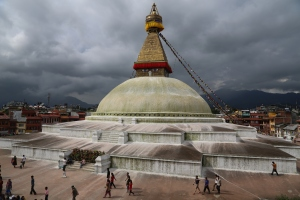 Bodhnath Stupa, a UNESCO World Heritage site is an island of calm in the chaos of Kathmandu. ©Donatella Lorch
