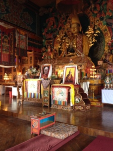 The main prayer hall at Kopan Monastery, one of Nepal's biggest Buddhist monasteries. © Donatella Lorch