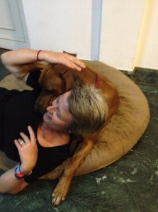 Hugging Biko at the end of the day. ©Donatella Lorch