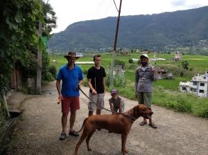 Guarding Biko our first weeks in Kathmandu ©Donatella Lorch