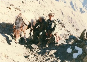 On the outskirts of Kabul, 1989 with the Afghan Mujaheddin. ©Donatella Lorch