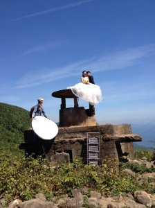 Wedding photo shoot on an old U.S. bunker. Highway 1 heading to Hue ©Donatella Lorch