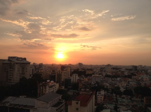 Ho Chi Minh City/Saigon at sunset. ©Donatella Lorch