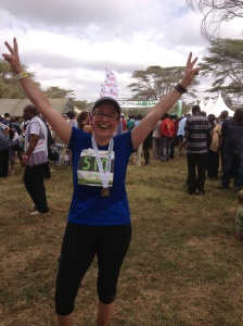 Crossing the finish line at the Lewa Marathon in Kenya. © Donatella Lorch