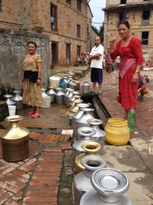 Water gathering at the main square of the village of Sanu Khokana in the Kathmandu Valley. © Donatella Lorch