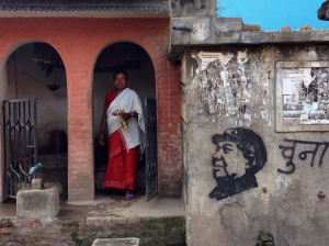 There are still stenciled Chairman Mao portraits in Kathmandu as well as Nepal's villages. ©Donatella Lorch