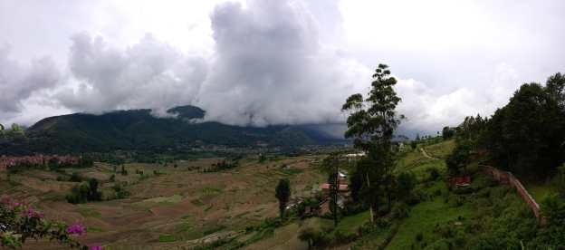 Rains rolling into the Kathmandu Valley. ©Donatella Lorch