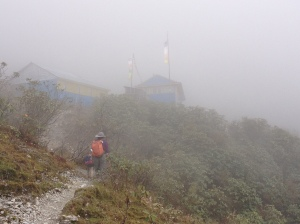 Even before Hudhud hit, the mountain afternoons were fogged in and had heavy rain. ©Donatella Lorch