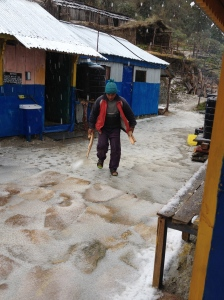 Before Hudhud hit, we had hail storms where we stayed over 3,000m ©Donatella Lorch