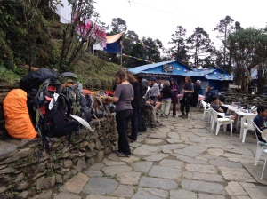 In October, peak tourist season in Nepal, the main trails of the Annapurna Circuit are full of foreign trekkers. ©Donatella Lorch