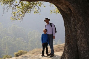 John and Lucas under a Pipal Tree, Wester Nepal. © Donatella Lorch
