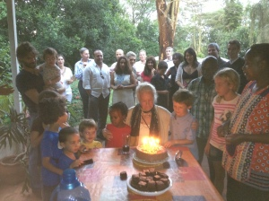Mina's 93rd birthday in Nairobi, Kenya. © Donatella Lorch