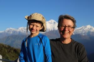 Trekking with Lucas on the Annapurna Circuit © Milan Dixit