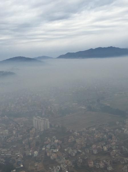Landing in a winter Kathmandu. © Donatella Lorch
