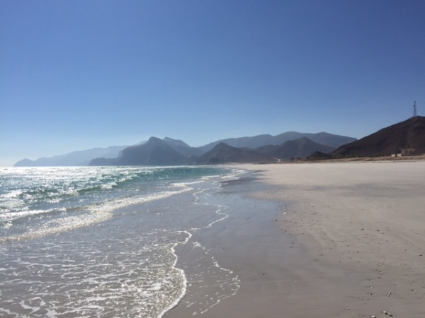 Oman's pristine beaches West of Salalah near the Yemen border. © Donatella Lorch