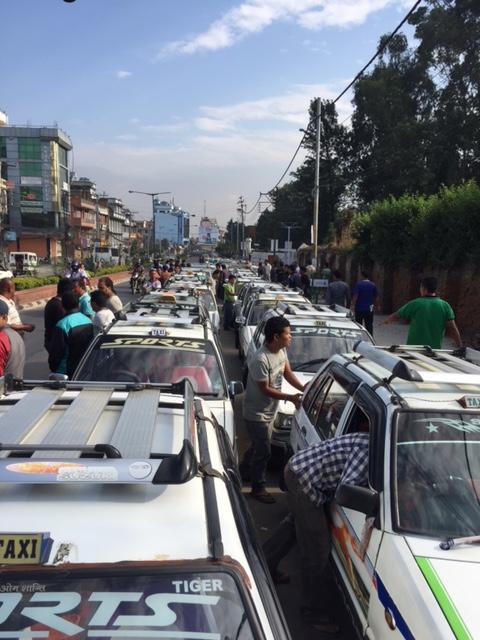 Kathmandu's  fuel lines stretch for miles. (c)Donatella Lorch